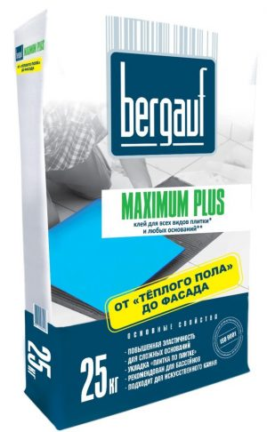 Клей Keramik MAXIMUM Plus/25кг/Bergauf